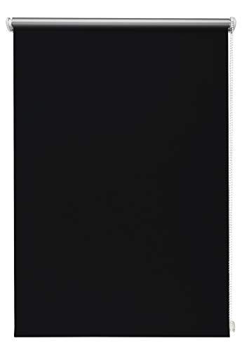 Thermo-Rollo Schwarz 70x210 cm ohne Bohren Verdunkelungsrollo Seitenzugrollo Klemmrollo Blackout Silberbeschichtung