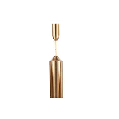 LKOBN Candlestick_Nordic Simple Metal Crafts Dekoration Europäischen Retro Romantischen Esstisch Candlelight Dinner Exquisite Golden Candlestick A -