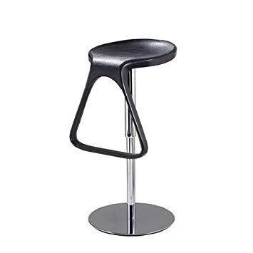 Jbymyy Drehbarer Barhocker Höhenverstellbarer Barhocker Retro Antique Designer Kitchen Dining Chair Designer Hocker Industrial Style. (Color : Black)