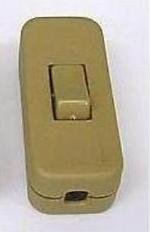 INLINE LAMP SWITCH/LIGHT SWITCH GOLD IN-LINE 2/3 CORE by Lightable UK