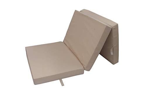 Herlag Klappmatratze Senior (Farbe beige, Maße 195x85 cm, Gästebett, Faltmatratze, Bezug waschbar),