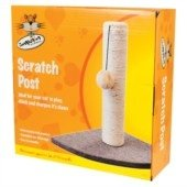 Companion Corner Cat Scratching Post Hard Wearing Sisal 36cm Playpost Toy Mouse Cats Claws Tree Activity Centre Play Toys Climbing Mouse and ball