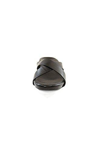 Fornarina sandali in pelle con lacci incrociati Black