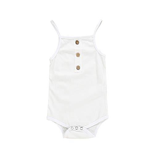Julhold Säugling Neugeborenes Baby Mädchen Jungen Einfache Träger Körper Beiläufige Dünne Strampler Kleidung 0-18 Monate