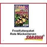 SAHAWA® Rote Mückenlarven Frostfutter, Guppy, Fische, Aquarium (0,5 kg)