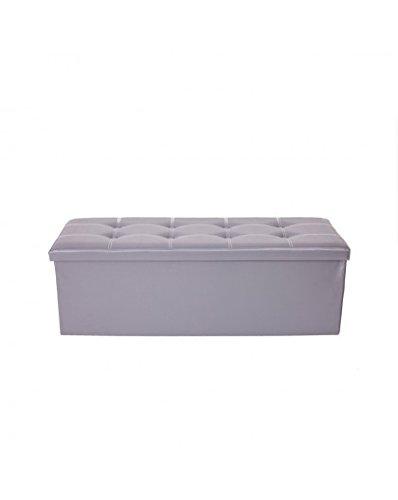 BLUE CLUB Pouf en Simili Cuir Sofa 'Boîte 76 x 38 cm. Blanc/Beige/Taupe/Gris/Marron/Noir
