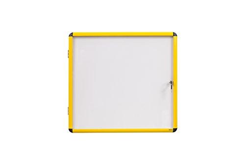 Bi-Office Schaukasten Ultrabrite - 4 x A4 - magnetisch, mit gelber Alurahmen