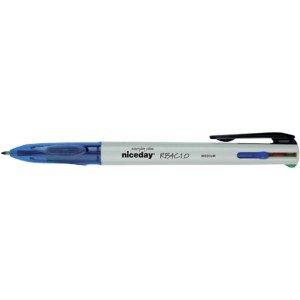 Niceday RB4C1.0 Kugelschreiber, mehrfarbig, 12 Stück