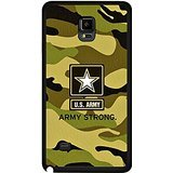 Cover Samsung Galaxy Note 4 Army Camo Case Cover,Stylish Perfect U.S. Army Logo Camo Camouflage (Army Camouflage Pattern)