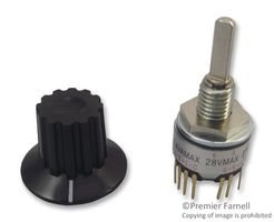 ROTARY SWITCH, SEALED, SHORT SHAFT MRK206-A By NKK SWITCHES -