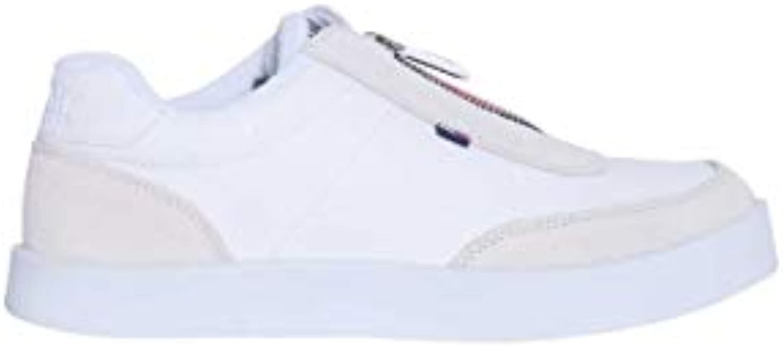 Tommy Jeans Uomo Bianca - scarpe da ginnastica in Ecopelle Bianca Uomo con Zip 7e9863