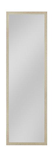 your-homestyle Rahmenspiegel/Wandspiegel Julia, 45 x 144 cm, Eiche hell, für Schlafzimmer, Badezimmer, Wohnzimmer Garderobe und mehr geeignet