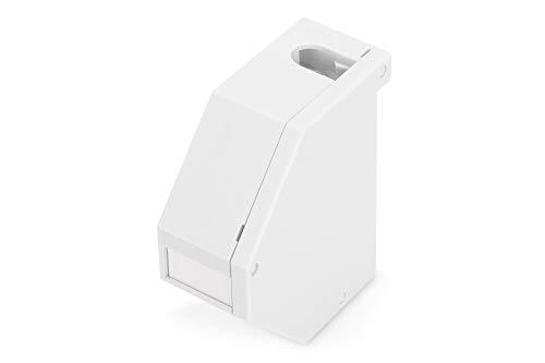 ASSMANN Hutschienen Adapter für 1 x Keystone Module, IP20, inklusive Beschriftungsfeld, Staubschutz, Erdungsfeder, Seitenabdeckung, grau -