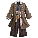 Herren Captain Pirate Kostüm - Disney Captain Jack Sparrow Kostüm für Kinder Pirates of The Caribbean 5/6 Mehrfarbig