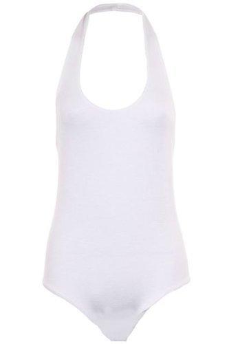 Sapphire Women's Low Back schwarz Karo Kariert Damen Body, Neckholder Creme