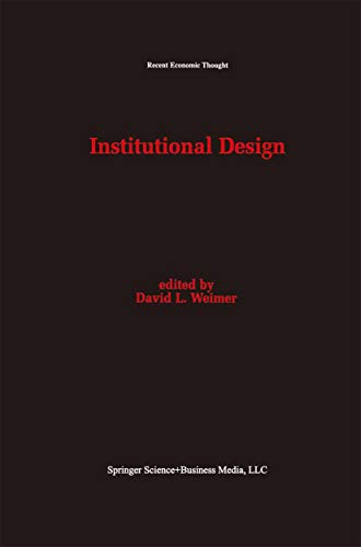 Institutional Design (Recent Economic Thought Book 43) (English ...