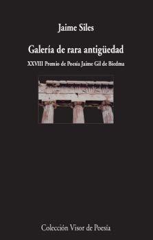 Galería de rara antigüedad: Premio de Crítica Literaria Valenciana 2019 categoría poesía (visor de Poesía)