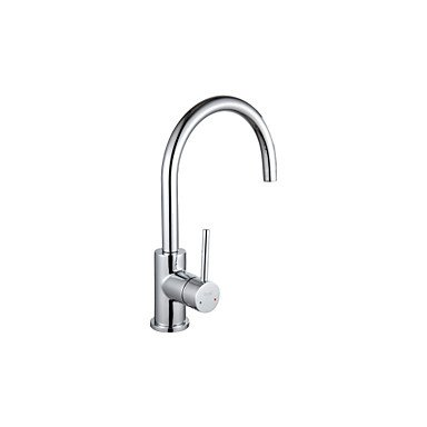 SHUYOU® TODE Kitchen Faucetsontemporary Chrome Brass Single Hole Single Handle Kitchen Faucet