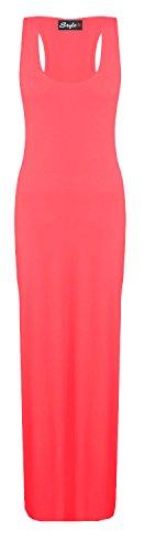 Damenleggings, Plus Size Motiv Jersey in Maxi-Kleid, lang, Weiß, Größen 36-54 Grün - Korallenrot