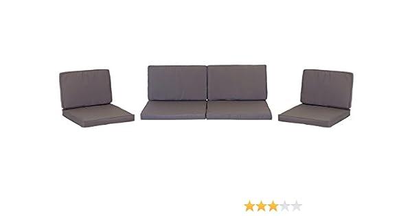 Amazon.de: Premium Lounge Sitzkissen Kissenset für Monaco Rattan ...