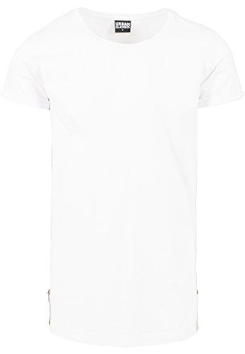 URBAN CLASSICS - Long Shaped Side Zip Tee (white) White