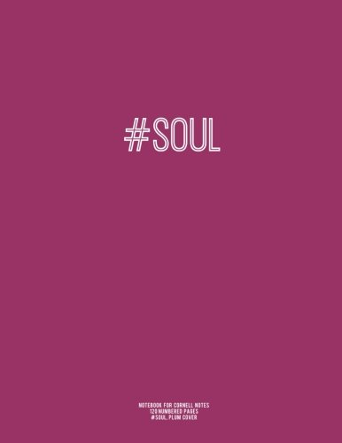 Notebook for Cornell Notes, 120 Numbered Pages, #SOUL, Plum Cover: For Taking Cornell Notes, Personal Index, 8.5