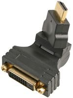 ADAPTER, DVI-D FEMALE-HDMI MALE, SWIVEL PSG90731 By PRO SIGNAL
