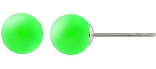 petra kupfer Kleine Damen Ohrstecker 1 Swarovski®-Perle 8 mm Neon Grün Neon Green 925 Silber pst01-neon-green-pearl