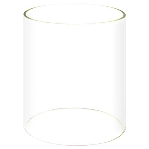 Festnight- Glaszylinder für Würstchenwärmer Hot Dog Maker Ersatzglas Bockwurstwärmer Hitzebeständig 200x240 mm