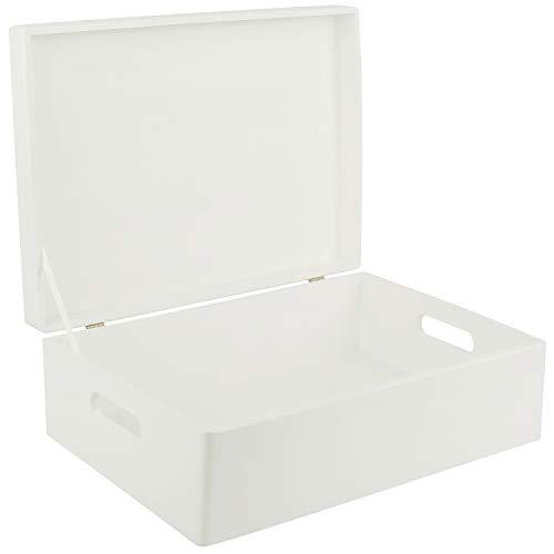 Creative Deco XL Blanca Grande Caja Madera Juguetes