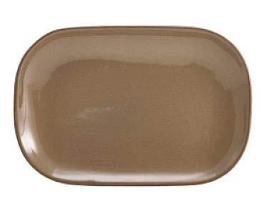 Genware Rp-br29 Terra plaque rectangulaire en céramique rustique, Marron (lot de 6)