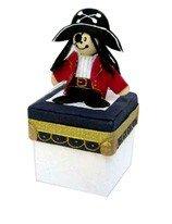 DISOK - Set 16 Cajitas Pirata - Cajitas, Cajas para Niños, Caramelos, Detalles y Regalos para Comuniones, Fiestas de Cumpleaños