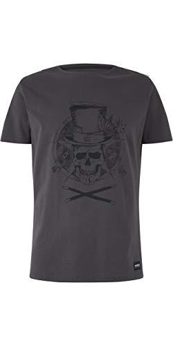 Mystic Watersports - Surf Kitesurf & Windsurfing Herren Magician T-Shirt Top Asphalt - Single Jersey, 160 g/m² - Regular Fit -