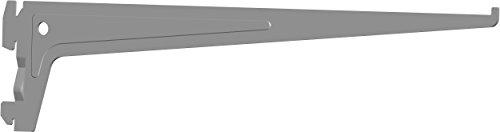 Element System PRO-Träger Regalträger 1-reihig, 2 Stück, 7 Abmessungen, 3 farben, lange 35 cm für Regalsystem, Wandschiene, weißaluminium, 18133-00014