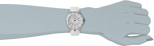 Tommy Hilfiger Carley Women's Quartz Watch with White Dial Analogue Display and White Rubber Strap 1781271