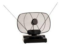 TELESTAR Antenna 6, Aktive DVB-T Zimmerantenne mit regelbarem Verstärker, schwarz