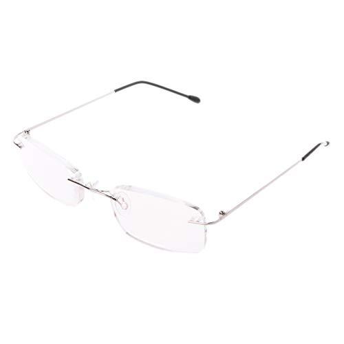 oukerst Herren Titan Legierung ohne Rand Lesebrille rahmenlose Klappbrillen Presbyopie Brillen + 1,0 + 1,5 + 2,0 + 2,5 + 3,0 + 3,5