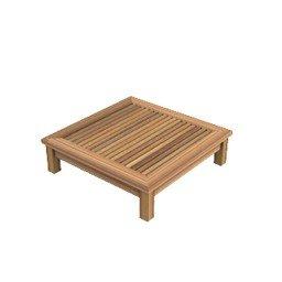 dafnedesign. com – Table de jardin table basse Chelsea de teck carré cm 80 x 80, 22 h