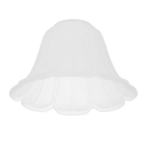Homyl E27 Glas Lampenschirm für Kronleuchter Deckenleuchte Hängelampe Wandleuchte (Weiß) - Typ 2 -