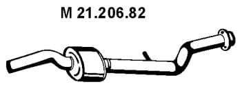 Eberspächer21.206.82Mittelschalldämpfer