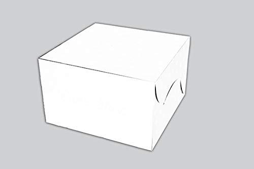 Ezellohub Cake Box 10 x 10 x 4.5 Inch Pack of 10 White Boxes
