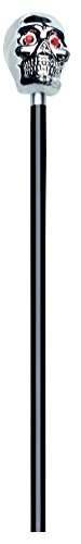 Erwachsene 's Halloween 121,9cm Silber Totenkopf Gehstock-One Size, Silber ()