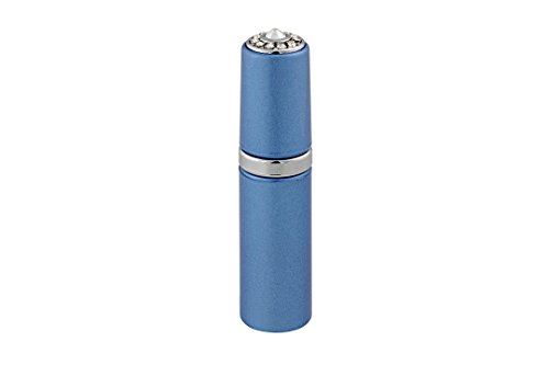 Vaporisateur parfum sac bleu argent strass Novex