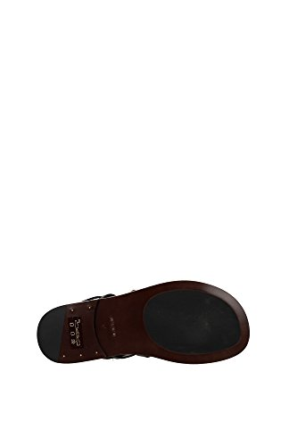 116J0962TBOMCHO Tom Ford Tongs Homme Cuir Marron clair Marron Clair