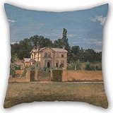 Uloveme 20 X 20 Inches / 50 By 50 Cm Oil Painting Thomas Churchyard - House In Woodbridge, Suffolk Pillow Cases,2 Sides Is Fit For Shop,dining Room,adults,pub,home Theater,sofa