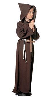 Kinderkostüm Mönch, Gr. 116 - Kinder Mönch Kostüm