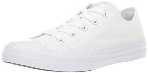 Converse Chuck Taylor All Star, Unisex - Erwachsene Sneaker,  Weiß (Monocrom), 41.5 EU (Ox-basketball-schuhe)