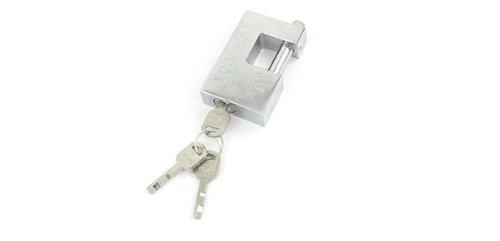 Silber Ton Metall Tür Schublade Schrank sperren Lock w 3Schlüssel