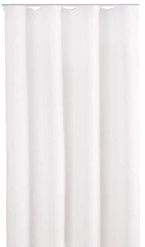 Bestlivings Blickdichte Gardine mit Kräuselband (140x245 cm/Weiß), in vielen Variationen