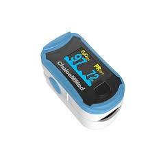 Pulsoximeter Fingerpulsoximeter MD300C29 OLED Display mit Nylontasche und Silikonschutzhülle